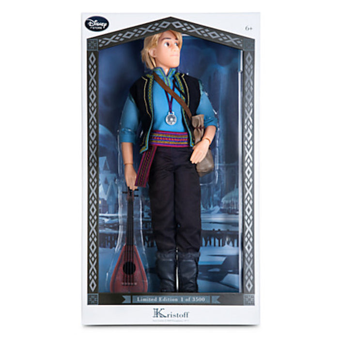 disney store frozen kristoff limited doll of 3500 new with box and certificate