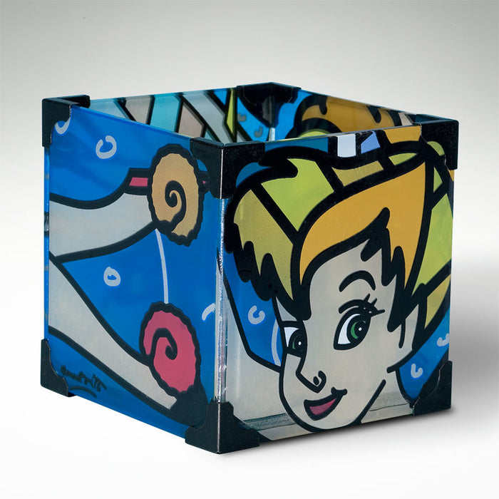 Disney Britto tinker bell electric glass votive candle holder new with box