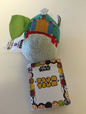 disney usa authentic star wars boba fett tsum mini plush new with tags