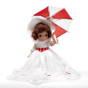 disney precious moments mary poppins doll with hat and umbrella new with box