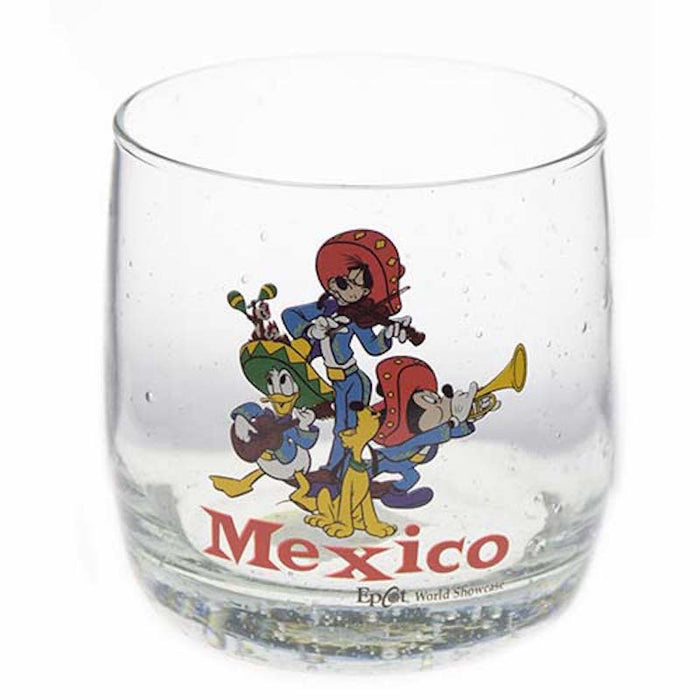 disney parks epcot mickey mouse and friends caballeros mexico juice glass new