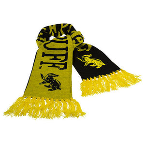 universal studios harry potter knit hufflepuff reversible scarf new with tags