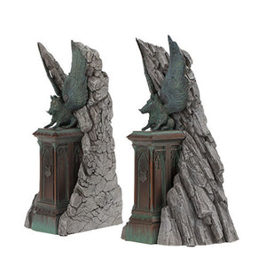 universal studios harry potter resin hogwarts entrance gate bookends new