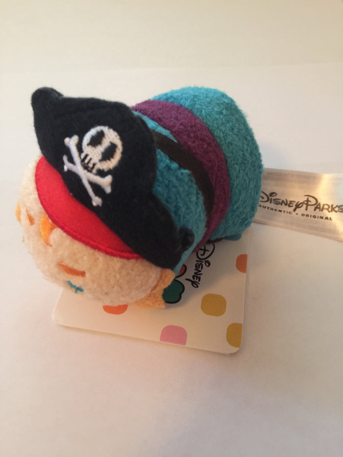 Disney Parks Tsum Tsum Pirates of the Caribbean Pirate Captain plush new tags