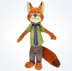 "disney parks nick wilde zootopia 14"" plush toy new with tags"