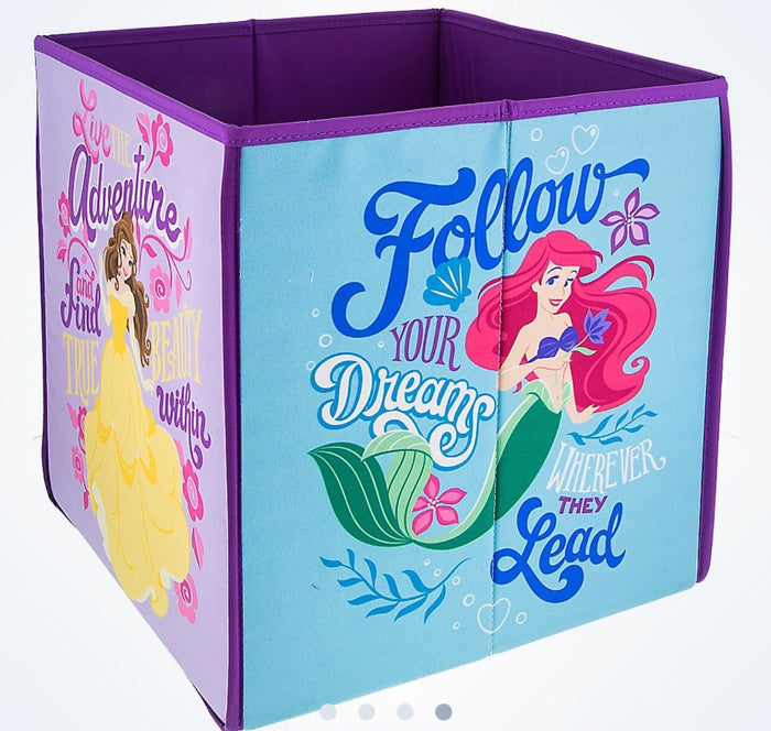disney parks princesses ariel belle rapunzel and cinderella storage bin new