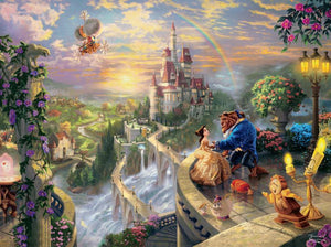 disney kinkade beauty and the beast falling in love 750 pcs puzzle new with box