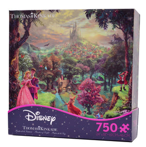 disney kinkade sleeping beauty aurora & phillip 750 pieces puzzle new with box
