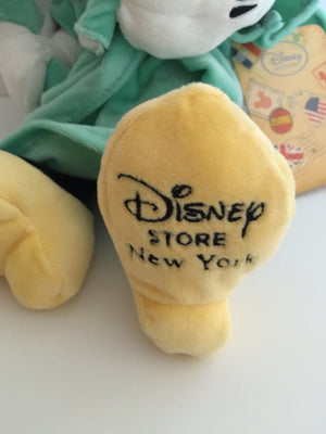 "disney store authentic 12"" minnie statue of liberty NYC plush new with tags"