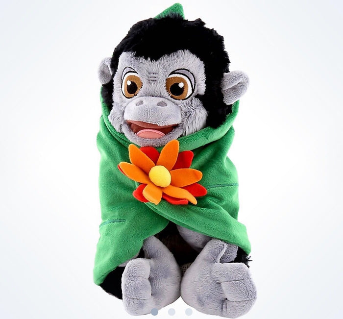 "disney parks 10"" baby gorilla plush toy with blanket new with tag"