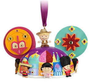 disney christmas it's a small world ear hat ornament cody reynolds new with tag - I Love Characters