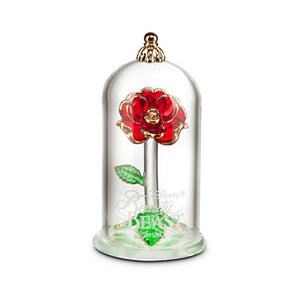 Disney Beauty and the Beast Enchanted Rose Glass Sculpture by Arribas Small - I Love Characters