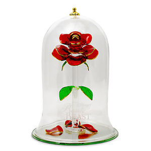 Disney Beauty and the Beast Enchanted Rose Glass Sculpture Arribas Extra Large - I Love Characters