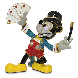 Disney Magician Mickey Mouse Jeweled Figurine by Arribas New LE 2000