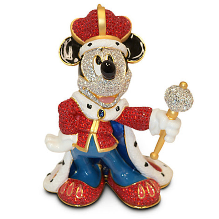 Disney King Mickey Mouse Jeweled Figurine by Arribas New Limited Edition 2000
