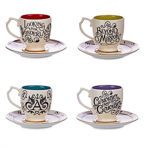 Disney Alice Through Looking Glass Limited Edition Fine China Tea Set New Box - I Love Characters