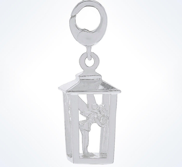 Disney Parks tinker Bell In Lantern Dangle Sterling Silver Charm New With Tags