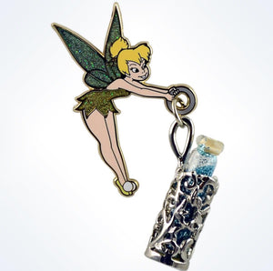 Disney Parks Tinker Bell With Pixie Dust Vial Pin New With Card