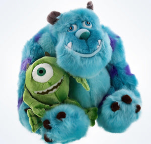 "Disney Parks Authentic 15"" Mike & Sulley Plush Set New With Tags"