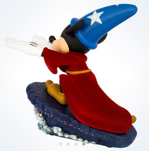 Disney Medium Figure Statue Sorcerer Mickey Mouse Light-Up Figurine New With Box