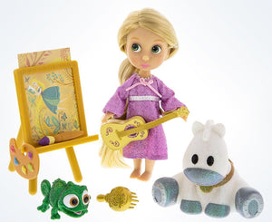 Disney Animators' Collection Rapunzel & Friends Mini Doll Play Set New with Case - I Love Characters