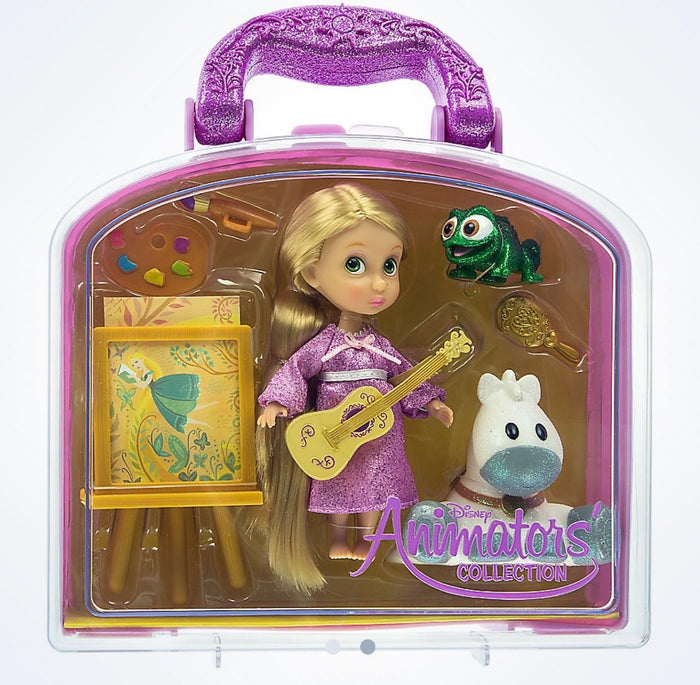 Disney Animators' Collection Rapunzel & Friends Mini Doll Play Set New with Case