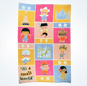 "Disney Parks "" It's a Small World "" Blanket Thrown New With Tags"