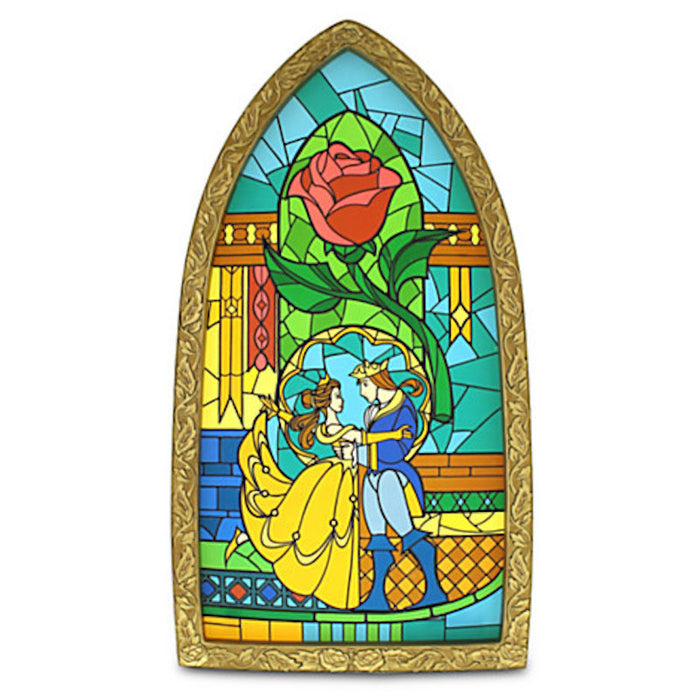 Disney Parks Beauty And The Beast Belle Stained Glass Window Replica New