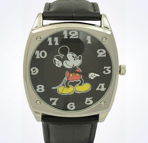 Disney Parks Mickey Mouse Leather Arms Watch New With Plastic Case