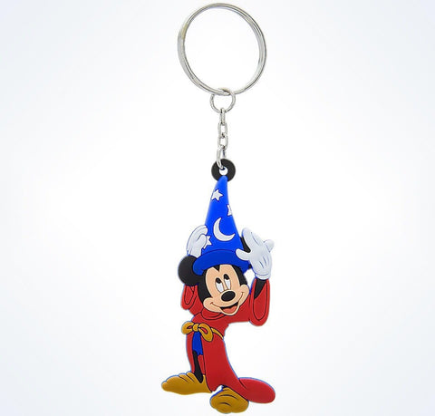 Disney Mickey Mouse Sorcerer hat Light-Up Keychain New With Tag