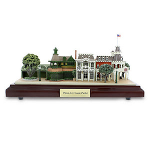 Disney Parks Walt Disney World Plaza Ice Cream Parlor Miniature by Olszewski New Box