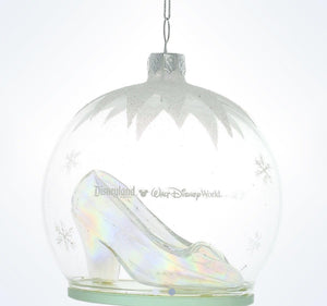 Disney Parks Glass Slipper Cinderella Ornament New With Tag