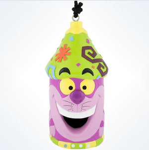 Disney Parks Cheshire Cat Resin Bird House New With Tags
