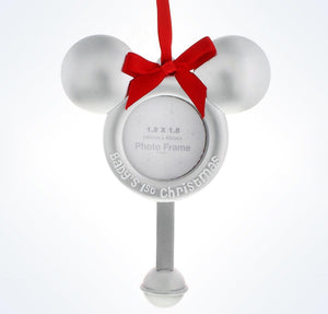 Disney Parks Mickey's Baby's 1st Christmas Photo Frame Ornament New With Tags