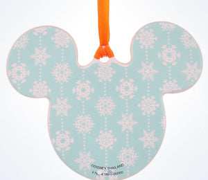 Disney Parks Mickey Icon Snowman Disc Christmas Ornament New With Tags