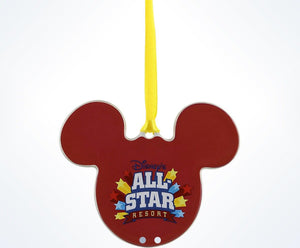 Disney Parks All-Star Mickey Disc Christmas Ornament New With Tags