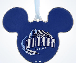 Disney Parks Contemporary Resort Mickey Disc Christmas Ornament New With Tags