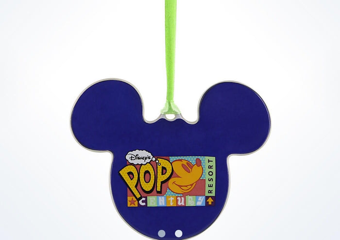Disney Parks Pop Century Resort Mickey Disc Christmas Ornament New With Tags