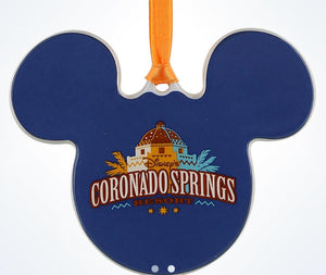 Disney Parks Coronado Springs Resort Mickey Disc Christmas Ornament New W Tags