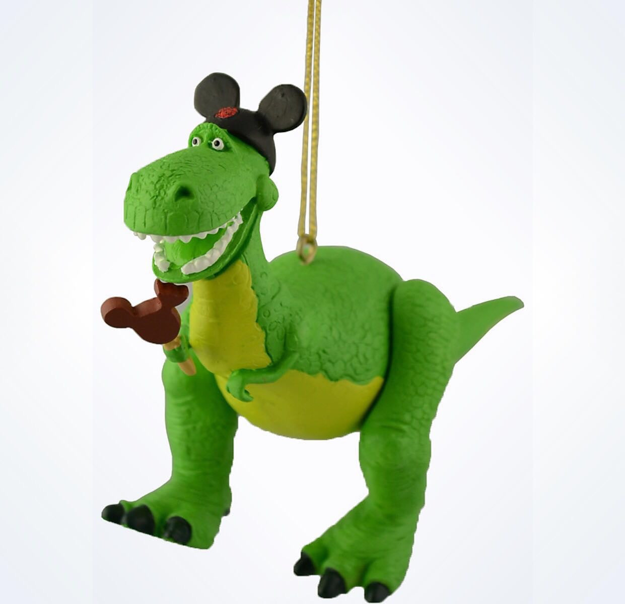 Disney Parks Toy Story Rex With Mickey Ears Christmas Ornament New