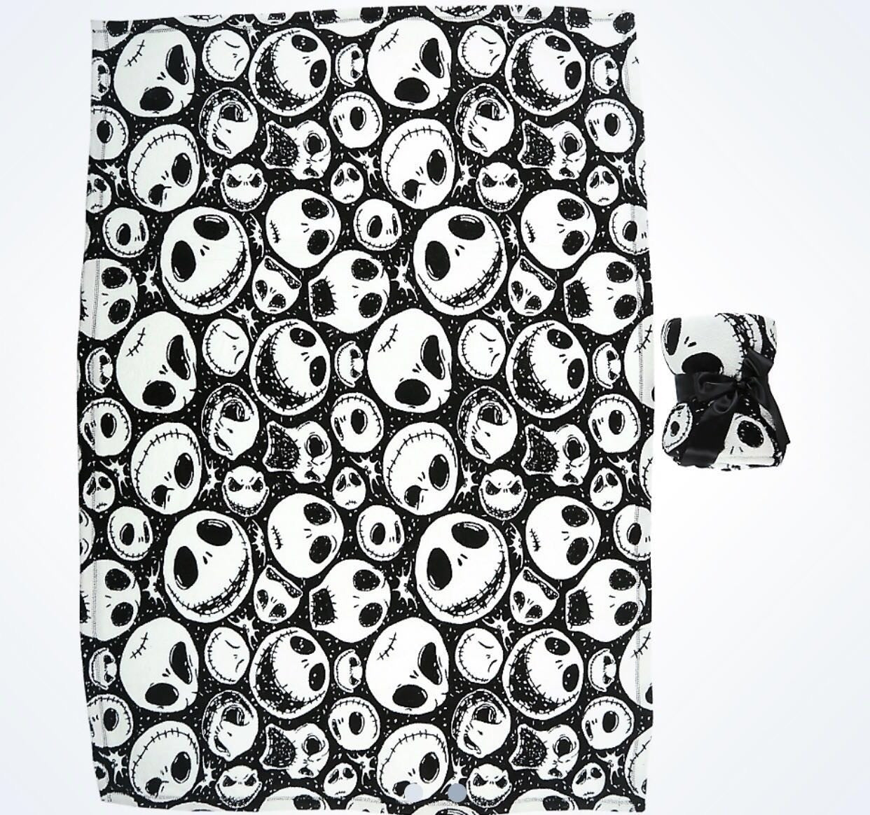 Disney Parks The Nightmare Before Christmas Jack Throw Blanket New ...
