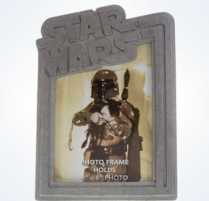 Disney Parks Star Wars Boba Fett Resin 4x6 Photo Frame New