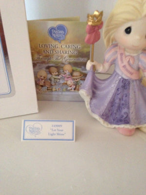 Disney Parks Precious Moments Princess Rapunzel Figurine Gem Accent New With Box