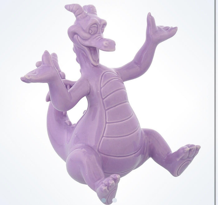 Disney Parks Epcot Figment The Dragon Mascot Dolomite Figurine New