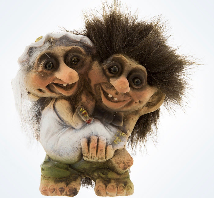 Disney Parks Epcot Norway Troll Wedding Couple Resin Figure New With Tags