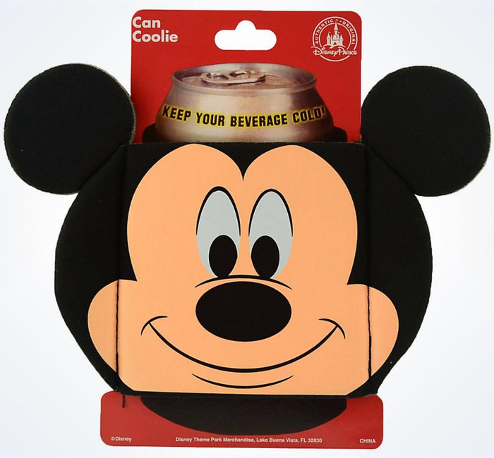 Disney Parks Mickey Mouse Icon Shaped Can Coolie New With Card