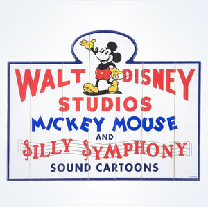 Disney Walt Disney Studios Mickey Mouse Silly Symphony Sound Cartoons Sign New