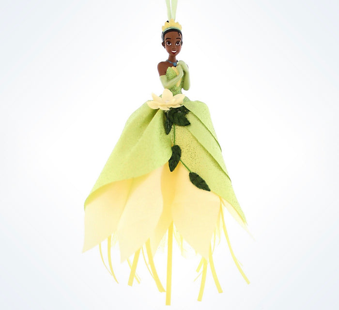 Disney Parks Christmas Princess Tiana Dress Tulle Ornament Holiday New With Tag