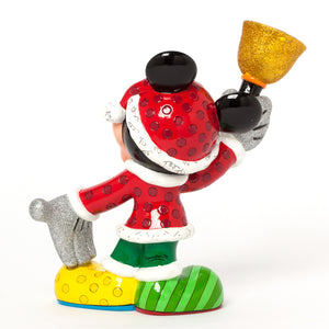 Disney Britto Mickey Mouse Santa Christmas Figurine New With Box