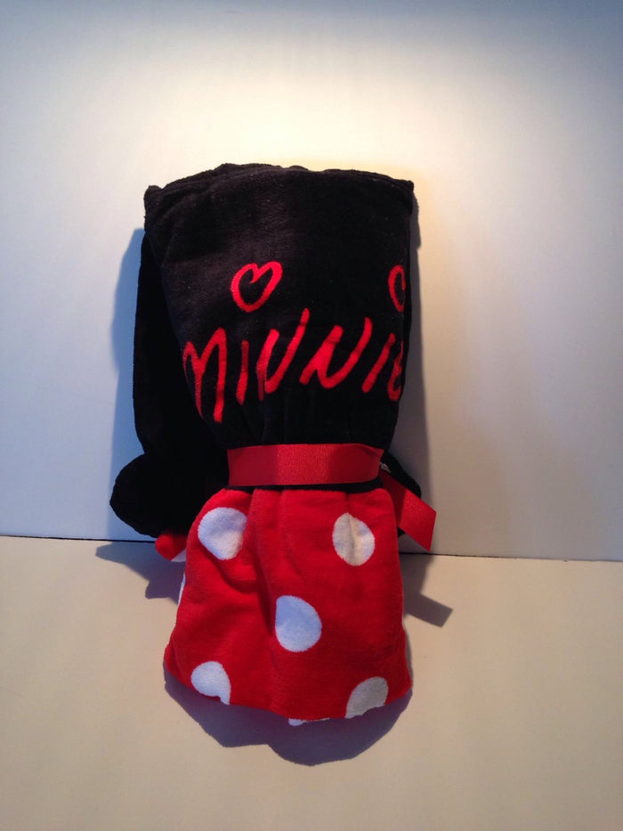Disney Parks Minnie Mouse Hooded Bath Towel For Kids New With Tags